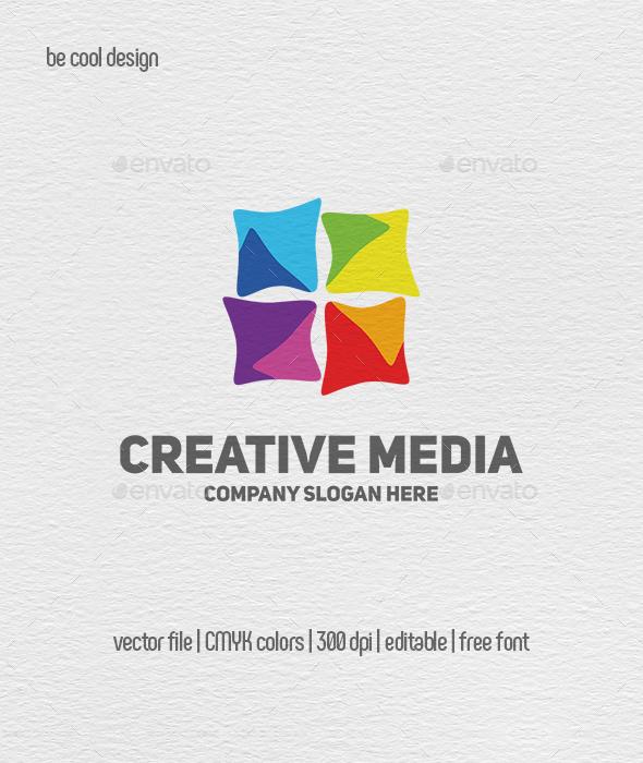 Creative Media Logo Template - Abstract Logo Templates