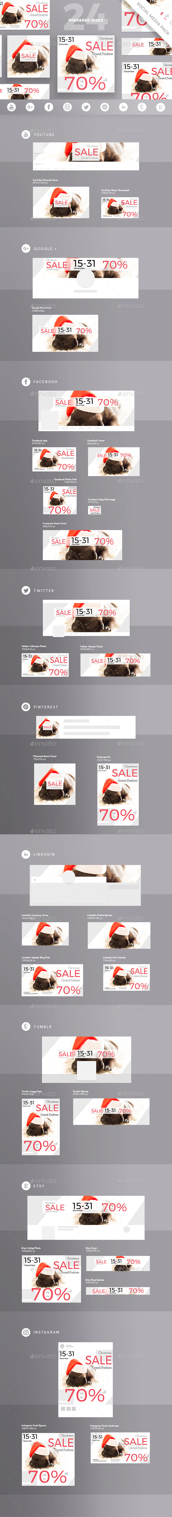 GraphicRiver Christmas Sale Social Media Pack 21115442