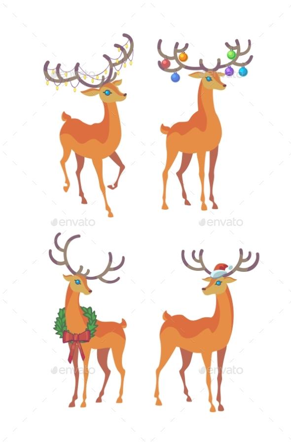 Reindeer Christmas Icon - Christmas Seasons/Holidays
