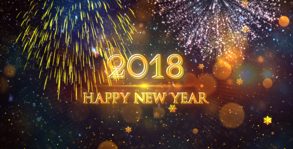 happy new year 2018 gold by strokevorkz videohive