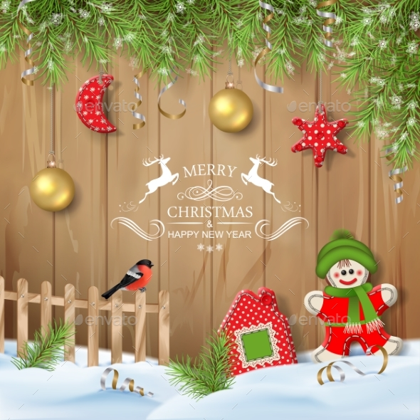 GraphicRiver Christmas Background with Ornaments 21115508