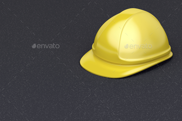 Yellow safety helmet - Stock Photo - Images