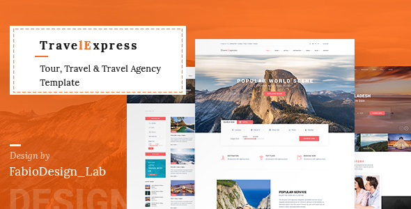 TravelExpress - Tour, Travel & Travel Agency Template
