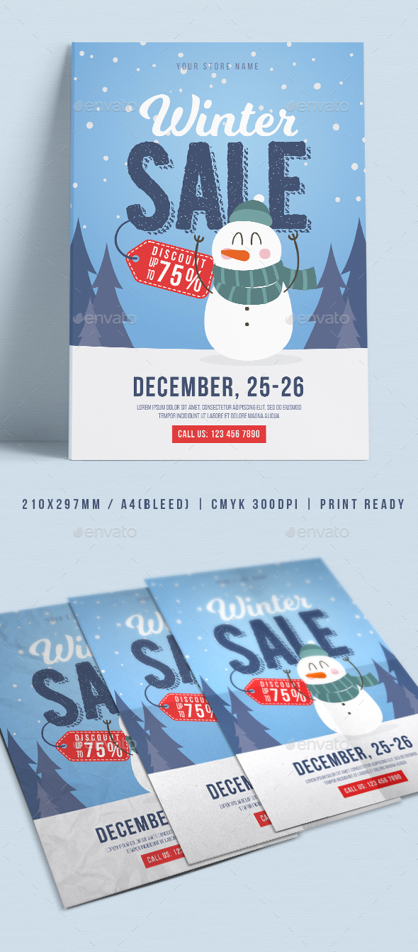 GraphicRiver Winter Sale Flyer 21115751