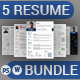Clean Resume & Cover Letter Bundle - GraphicRiver Item for Sale