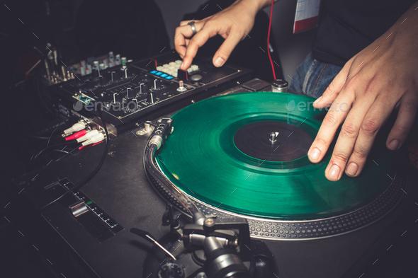 Dj Mixing Music - Stock Photo - Images