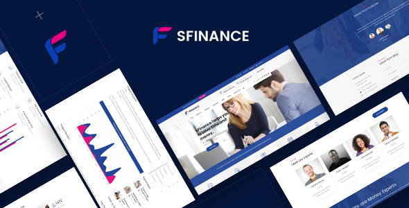 Image of SFinance - Business Consulting and Professional Services HTML Template