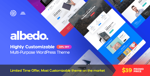 Image of Albedo - Highly Customizable Multi-Purpose WordPress Theme