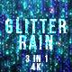 Blue Glitter Rain - VideoHive Item for Sale