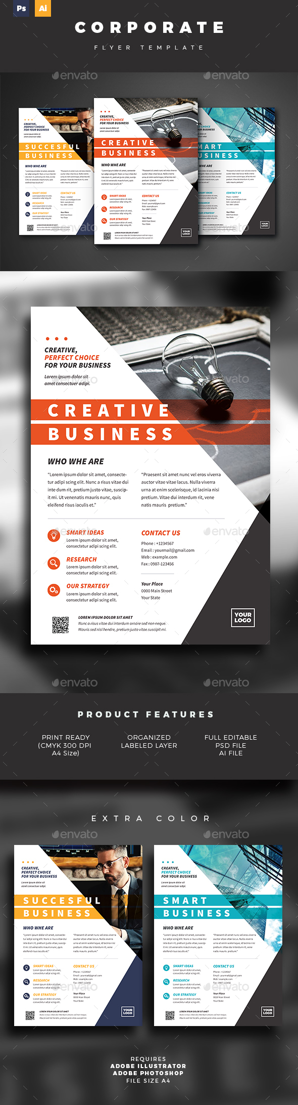 GraphicRiver Business Flyer Template 21116000