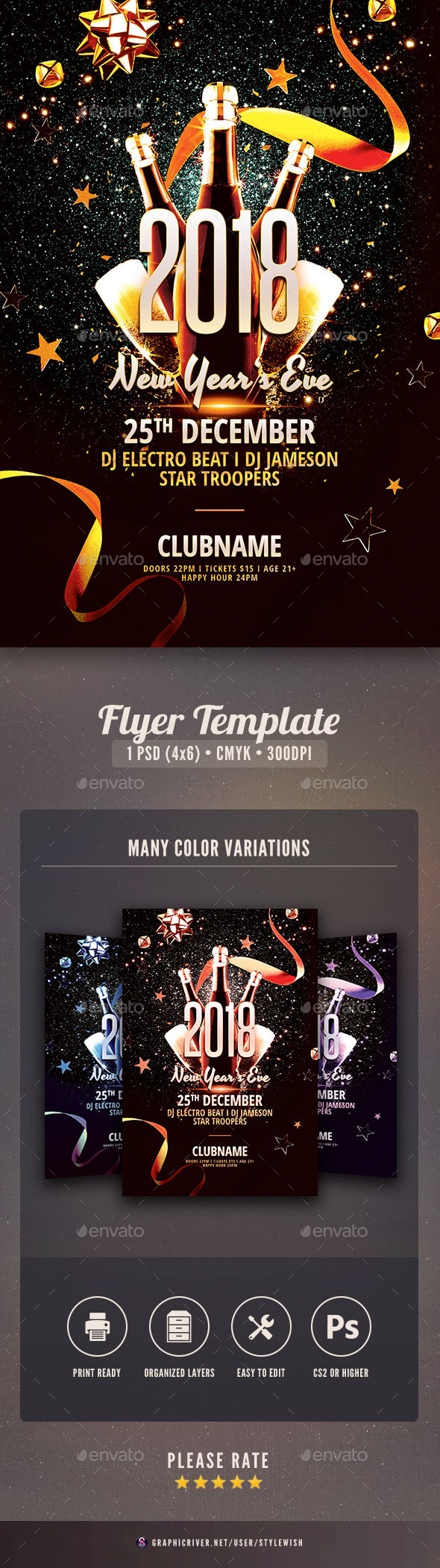 GraphicRiver New Year Flyer 21116071