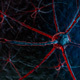 Neural Network On A Dark Blue Background - GraphicRiver Item for Sale