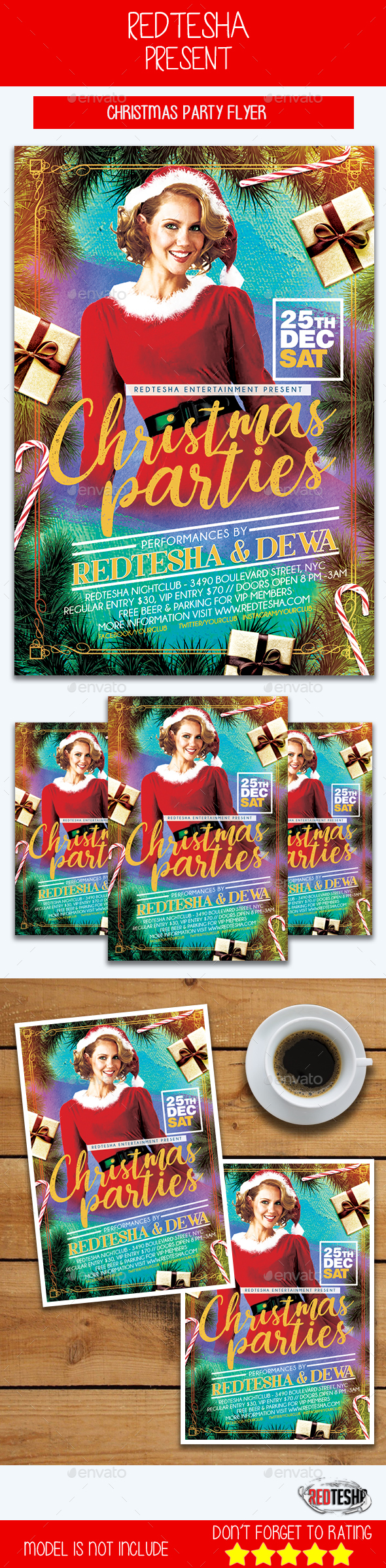GraphicRiver Christmas Party Flyer 21116073
