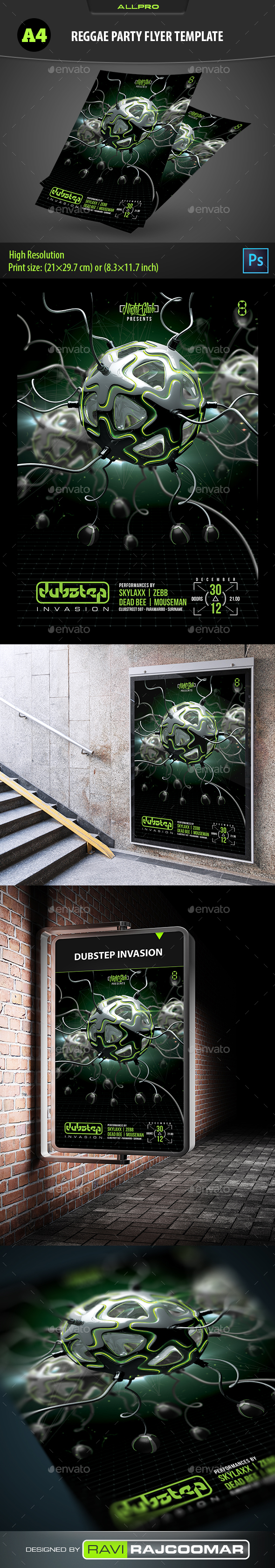 Dubstep Invasion Flyer Template - Events Flyers