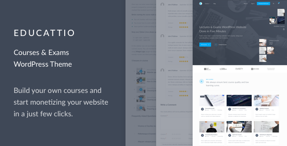 Educattio - Courses & Exams WordPress Theme - Education WordPress