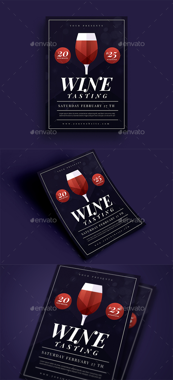 GraphicRiver Wine Tasting Flyer 21116237