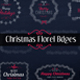 Christmas Floral Badges - VideoHive Item for Sale