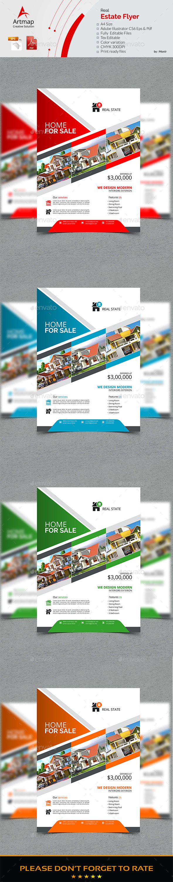 GraphicRiver Real Estate Flyer 21116308