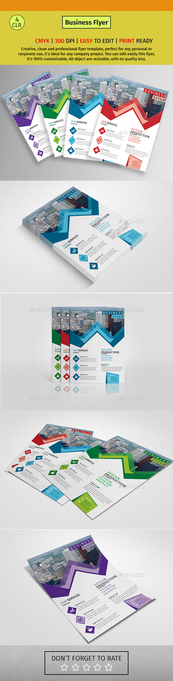 A4b Corporate Business Flyer #140 - Corporate Flyers