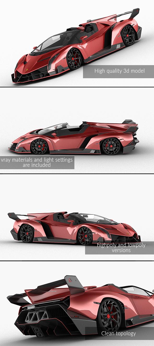 3DOcean Lamborghini Veneno Roadster 2014 21116343