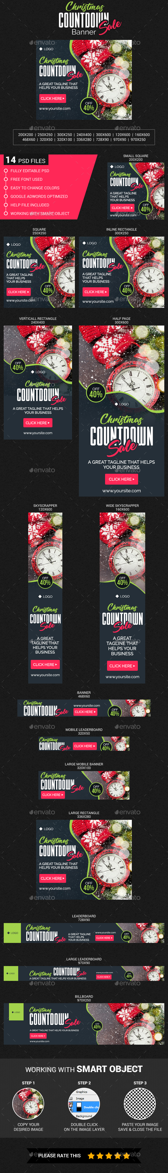 Christmas Countdown Sale Banner - Banners & Ads Web Elements