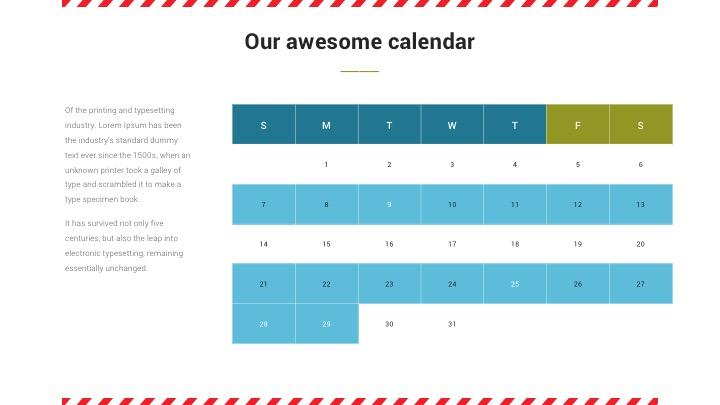 Keynote Calendar Template Gallery Template Design Free Download