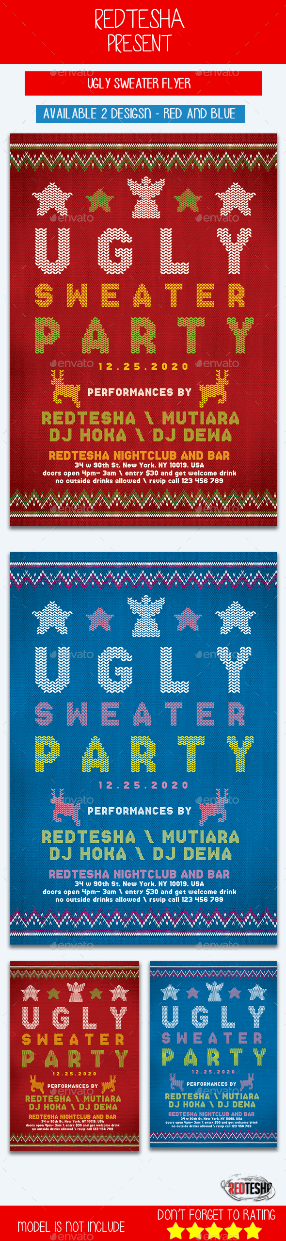 Ugly Sweater Flyer - Events Flyers