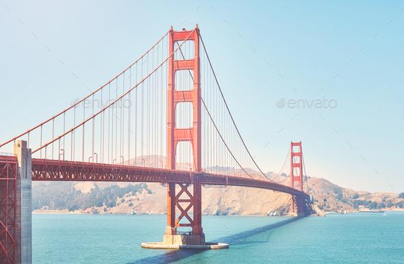 Golden Gate Bridge, San Francisco, USA. - Stock Photo - Images