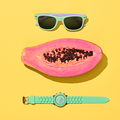 Papaya Tropical Fruit. Minimal. Trendy Accessories - PhotoDune Item for Sale
