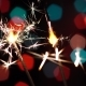 Bengal Flame. Sparkler Burning. Christmas. Bokeh. New Year. Celebration - VideoHive Item for Sale