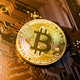 Golden bitcoins. Cryptocurrency. - PhotoDune Item for Sale