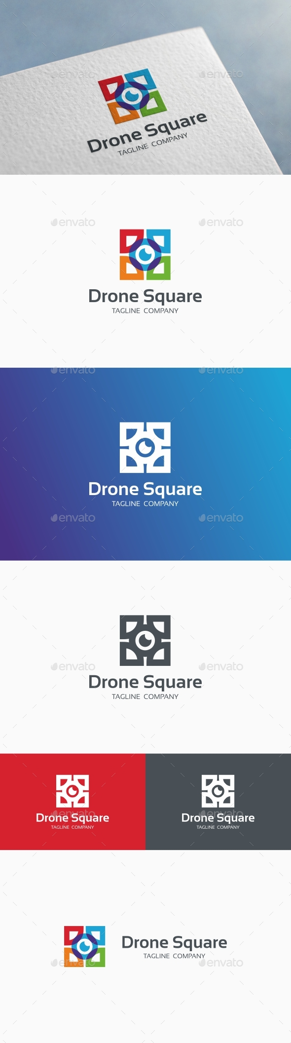 Drone Square Logo - Objects Logo Templates