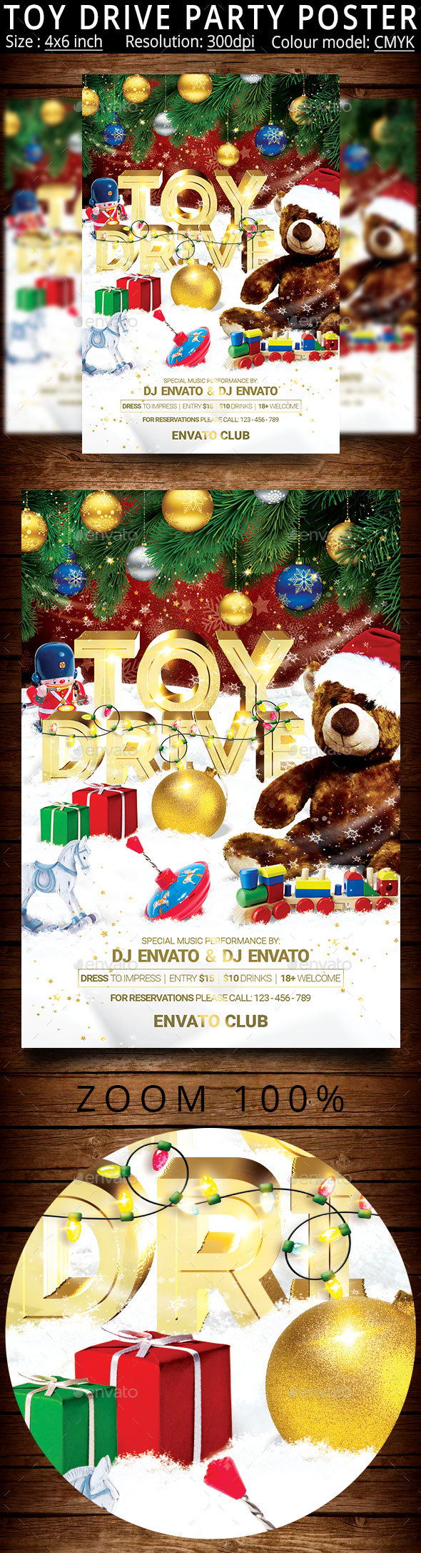 Toy Drive Party Flyer - Clubs & Parties Events