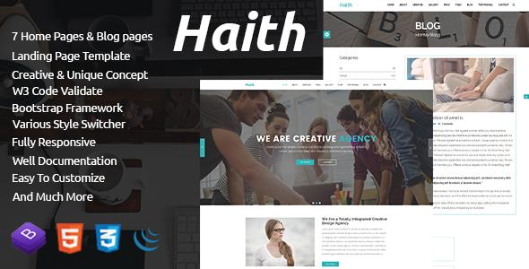 Haith | Landing Page Portfolio Template