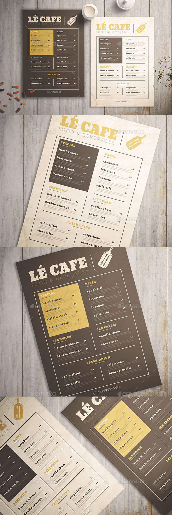 Food Menu Vol. 01 - Food Menus Print Templates