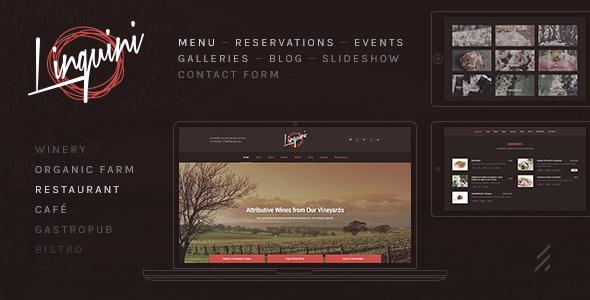 Linguini: A Classic Restaurant WordPress Theme - Restaurants & Cafes Entertainment