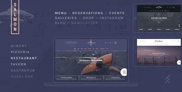 Salmon: A Beautiful Multi-Purpose Restaurant WordPress Theme - Restaurants & Cafes Entertainment