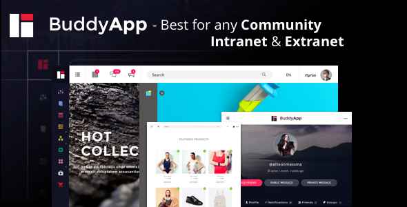 BuddyApp - Mobile First Community WordPress theme - BuddyPress WordPress