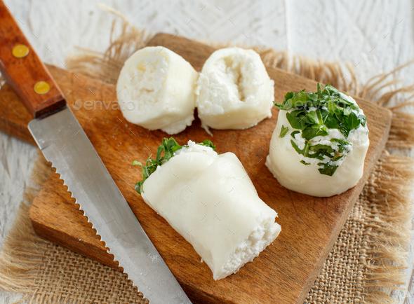 Italian mozzarella sticks stuffed with ricotta - Stock Photo - Images