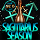 Sagittarius Season Flyer Template