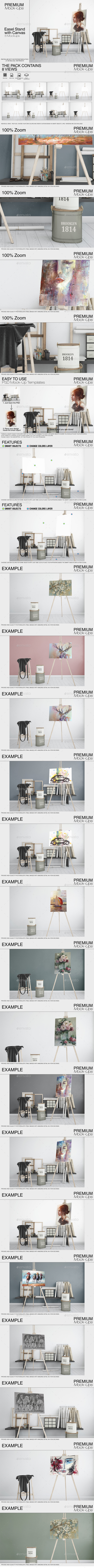 GraphicRiver Easel Stand with Canvas 21117115