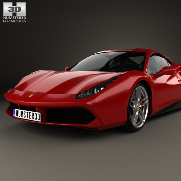 Ferrari 488 GTB With HQ Interior 2016 By Humster3d