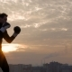 Strong Boxer Training at Sunset - VideoHive Item for Sale