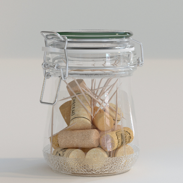 Glass Jar - 3DOcean Item for Sale