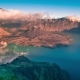 Tropical Panorama  View of Volcano Mountain Rinjani in Lombok, Indonesia - VideoHive Item for Sale