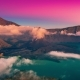 Sunset Over the Crater of the Volcano Rinjani in Lombok, Indonesia - VideoHive Item for Sale