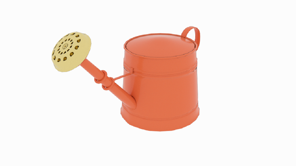 3DOcean Orange Watering Can 21117398