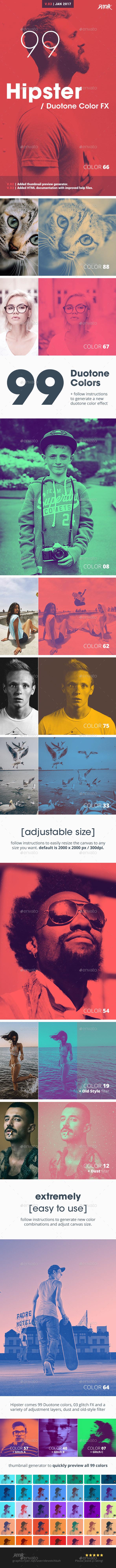 Hipster - Duotone Color FX - Urban Photo Templates