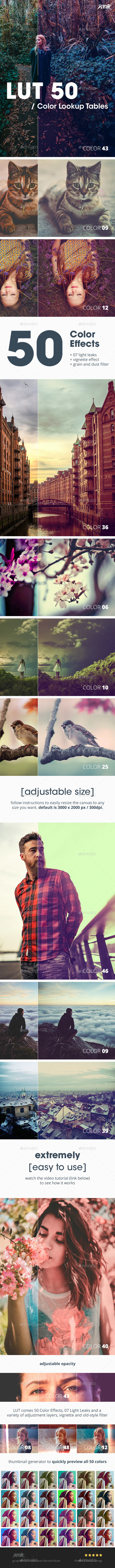LUT 50 - Photoshop Color Filter FX - Miscellaneous Photo Templates