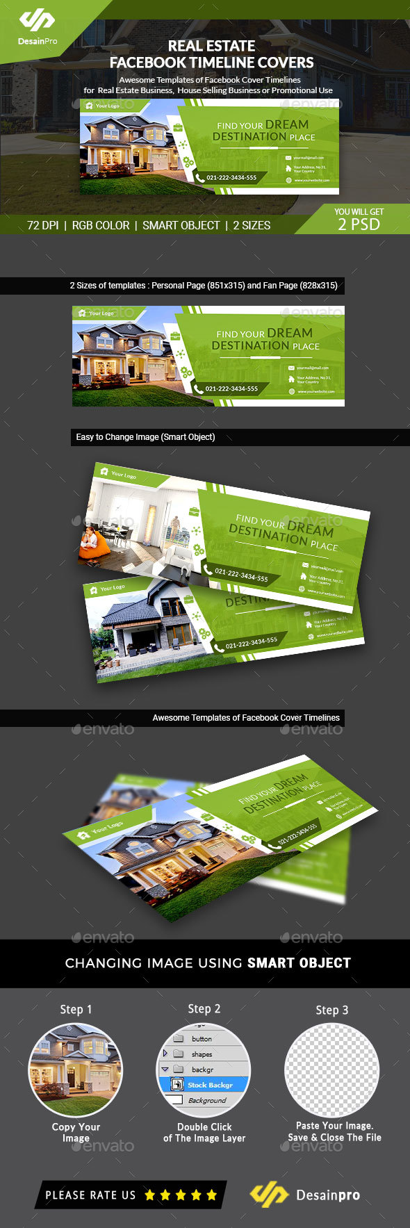 GraphicRiver Real Estate FB Cover Timeline AR 21117439
